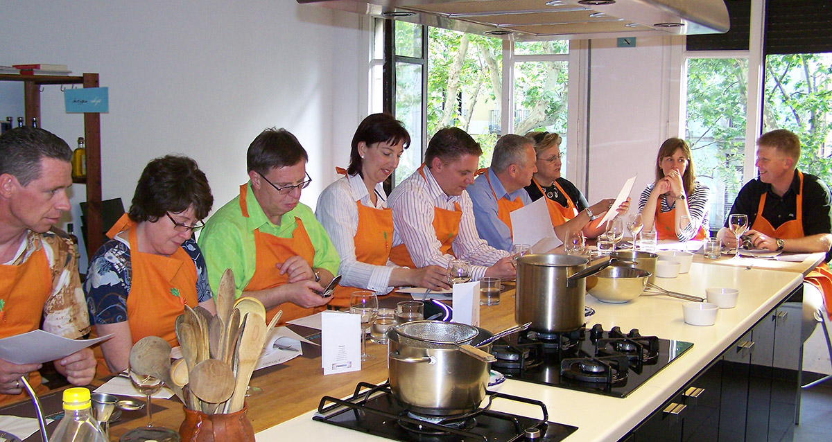 Cooking classes of spanish cuisine for your incentive trips in Spain