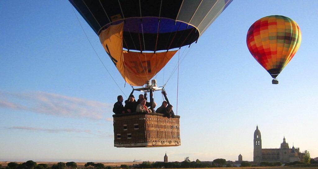 Ein Ballonflug für incentivereisen in Spanien